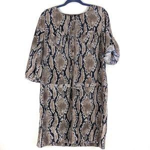 Ali Miles Snake Skin Dress Large